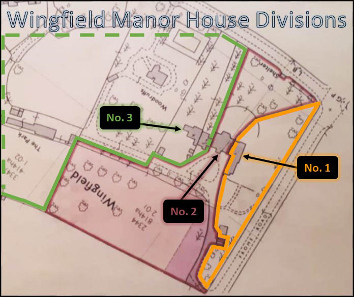 Wingfield Manor House showing units 1, 2, and 3